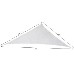 Toldo Vela 3 x 3 x 3 m Triângulo Cor: Creme