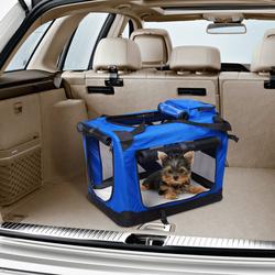 Transportadora 60 x 42 x 42 cm Cães Gatos Animais de estimação Viagem Tubo de Aço 4 Entradas