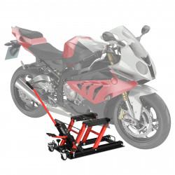 DURHAND Macaco hidráulico de aço para motocicleta Suporte 680 kg 110x36x67 cm Preto e Vermelho