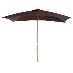 Guarda-sol para Varanda Pátio e Jardim - Mastro de Madeira - Cor: Chocolate - 2 x 3 m