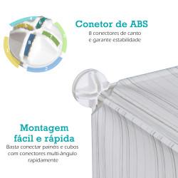 HomCom Armário Modular Plástico Estante 5 Baldes Roupeiro Sapateiro Comoda Combinado Móvel Organizador Roupa Sapatos Acessório Brinquedos