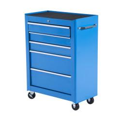 HOMCOM Carrinho de Ferramentas de Aço Azul 61,5x33x85 cm