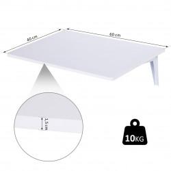 HOMCOM Mesa Dobrável Madeira Branca 60 x 40 x 1,5 cm