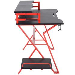 HOMCOM Secretária Mesa de trabalho simples Mesa de Estudo 168x66x92.5cm Carga 30 kg