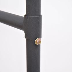 Homcom Suporte de cabide para Roupa com tubo de ferro e 4 rodas - Cor Preto - Ferro - 150x60x150cm