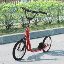 HOMCOM trotinete para crianças acima de 5 anos de altura ajustável com pneus Freio Vermelho