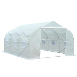 Outsunny® Estufa Plástico Branco 350x300x200cm