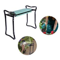 Outsunny banco do jardim portátil e joelho dobrável banco Kneeler jardim carga 150 kg com almofada de espuma EVA para proteger joelhos e vestuário de manchas.