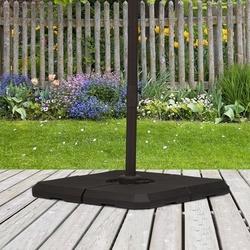 Outsunny Base de guarda-sol de 4 peças para Peso do medidor Suporte para Parasol do pátio