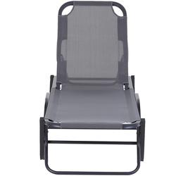 Outsunny Espreguiçadeira reclinável 120 ° - 180 ° para piscinas ou jardins cinza