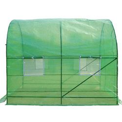 Outsunny Estufa Verde Transparente Aço Polietileno PE 250 x 200 x 200 cm