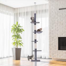PawHut Árvore com Plataforma para Gatos arranhador para gatos Brinquedo para Gatos Carga de 15kg Cinza