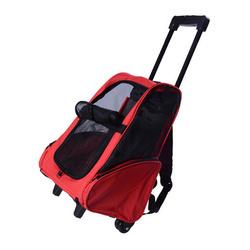 PAWHUT Transportadora 2 em 1 para Cães, Gatos e outros animais de Estimação - Cor Preto e Vermelho - 35x27x49 cm (l x P x A)