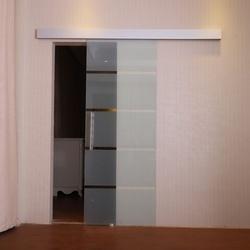 Porta de Correr de Vidro Fosco 4 Listas - Espessura 0,8 cm - Dimensões 205 x 90 cm