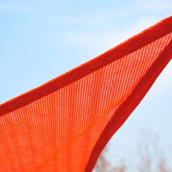 Toldo Vela 3x4m quadrada vermelho Polietileno HDPE 185 g/m²