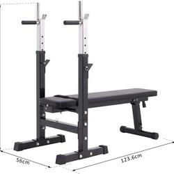 Banco de Musculação Dobrável Bancos Musculação Treino Máquina centro de Fitness Gym 123.6x56x90-111cm