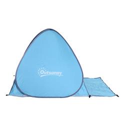 Barraca de Camping para praia Camping Picnic - Azul - Poliéster e Aço - 200 x 150 x 115cm