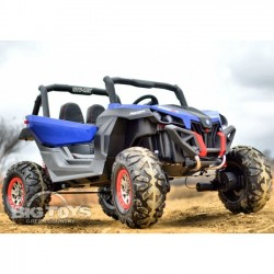 Carro Elétrico Buggy UTV-MX 4X4 Bateria c/ Comando e Bluetooth Azul