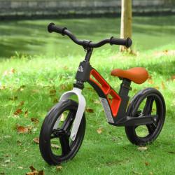 HOMCOM Bicicleta sem Pedais para Crianças de 2 a 5 anos Bicicleta de Equilibrio Infantil com Assento e Guidão Ajustáveis Rodas de Borracha 86x41x49-56cm Preto