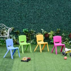 HOMCOM Cadeiras empilháveis para crianças Conjunto de 4 cadeiras de aprendizagem para uso interno e externo. 30kg 36x38x56,5 cm Multicolor