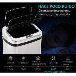 HomCom Caixote do Lixo Inteligente – Cor: Prata – Aço Inoxidável – 33 x 25 x 84 cm preço agradável automático e inteligente é ideal sensor resistente à água abertura automática