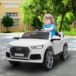 HomCom Carro elétrico para crianças a partir de 3 anos Audi Q5 Branco