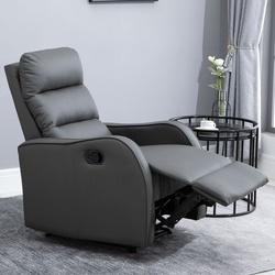 HOMCOM Poltrona Relax com cadeira reclinável manual de até 160° 65x89x100cm