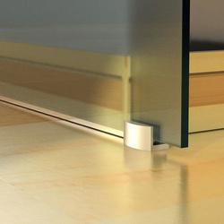 HOMCOM Porta de Correr traslúcido de Vidro Sem Obra - Vidro com 8 mm de Espessura - 205 x 77,5 cm