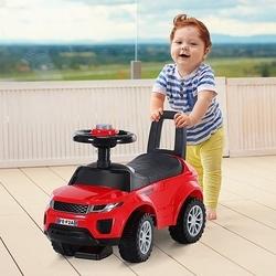 HOMCOM Quad andarinhos Carro Infantil sem Pedais para Bebê Estilo de Carreira de Andador de Brinquedo com Alto-falante 60x38x42cm
