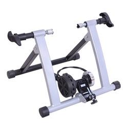 Homcom Rolo Bicicleta para treinamento de ciclismo – Cor Prateada – Estrutura de Aço - 54.5x42.2x39.1cm