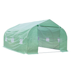 Outsunny® Estufa de jardim ou Terraço para cultivo de Plantas e Sementes – Cor verde - 450x300x200 cm