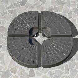Outsunny Base de guarda-sol de 4 peças recarregável com areia e água removível para pátio jardim 100x100x10,5 cm marrom