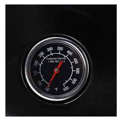 Outsunny Churrasqueira Carvão Picnic com Termômetro Ao Ar Livre com Rodas e Prateleira Esmaltada Tampa e Bacia