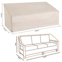 Outsunny Funda Protetora de Banco 3 lugares Capa Protetora para Móveis Impermeável Exterior jardim para sofá mesas cadeiras de churrasco 218x111x63 / 101cm