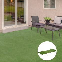 Outsunny Grama artificial 1x4 m 40mm Grama sintética espessa para terraço e varanda com furos de drenagem Verde
