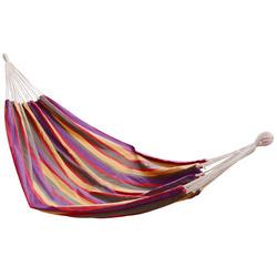 Outsunny rede para Pendurar na Praia Jardim Piscina ou Camping - Multicolor Roxo - 70% Algodão - 210x150cm