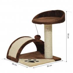 PAWHUT Arranhador Gato Altura 36x36x44 cm Árvore Coluna para Arranhar Jogos para gatos