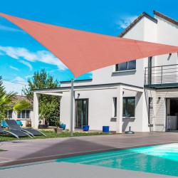 Toldo Vela 3x3x3m Triângulo Cor Vermelho Pára-sol Terraço Jardim Camping