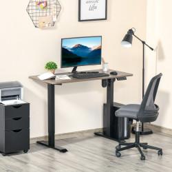 Vinsetto Secretária elétrica de pé Mesa ajustável em altura para escritório com 4 teclas de memória automática inteligente 120x60x72-116 cm moldura preto