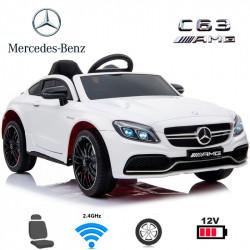 Carro Elétrico Mercedes C63 12V Bateria c/ Comando Branco
