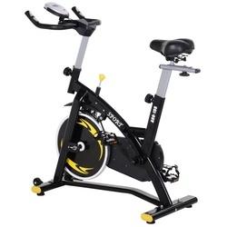 HOMCOM Bicicleta de exercício de giro profissional Bicicleta de fitness com tela LCD 47x120x104.5-117cm
