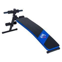 HomCom Carga 110kg Banco de Musculação Banco Abdominal Pesos Dobrável Ajustável a 4 Níveis para Fitness Treino Aço - 144x47cm