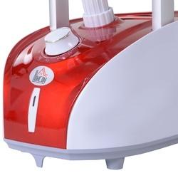 HOMCOM Escova de vapor de roupas Temperatura 1800W ajustável a 11 níveis Centro de engomar vertical com barra dupla e tanque de 2L em 38 s de aquecimento