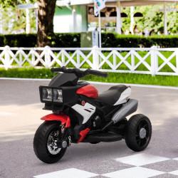 HOMCOM Motocicleta elétrica para crianças acima de 3 anos com luzes música pneus largos 86x42x52 cm