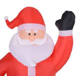 HOMCOM Papai Noel Inflável Decoração de Natal Com LED Soprador de Luz 150 × 60 × 240cm
