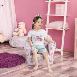 HOMCOM Poltrona Infantil para Crianças Acima de 3 Anos Assento acolchoado ergonômico rosa
