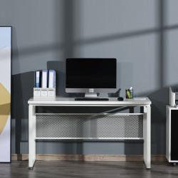 HOMCOM Secretária multifuncional estável com pés ajustáveis  135x60x75 cm Branco