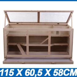 Jaula de madeira para roedores animais pequenos Hamster cobaias ratos Chinchilla