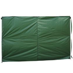 Outsunny 2 paredes Parte lateral para tenda 3x3m lado gazebo A tela impermeável de Oxford com janela mede a obscuridade de 300x200cm - verde escuro