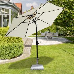 Outsunny Base de guarda-sol para jardim de mármore com alça e rodas adequadas para vários guarda-sois